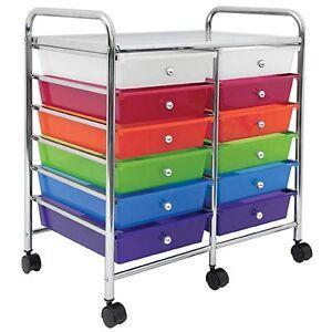 scrapbook storage organizer 12 drawers rolling cart new ebay. Black Bedroom Furniture Sets. Home Design Ideas