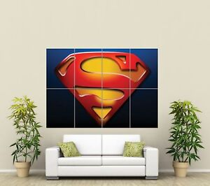 SUPERMAN LOGO GIANT ART PRINT POSTER ST404