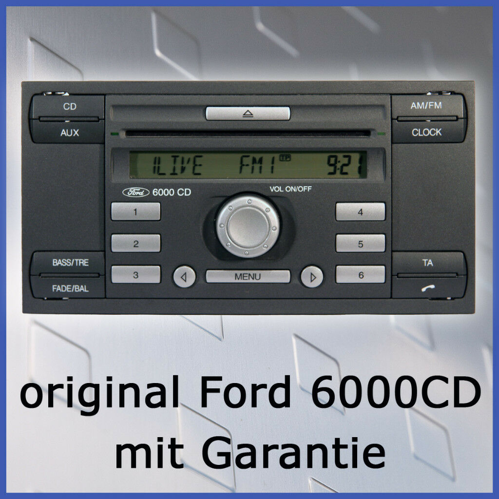 ford fiesta autoradio 6000. Black Bedroom Furniture Sets. Home Design Ideas