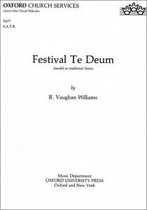 Vaughan Williams :Festival Te Deum: Vocal Score by OUP (Sheet music, 1937) NEW !