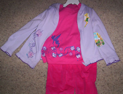 Toddler Girls 3 Piece Disney Tinkerbell Outfit Set 2t