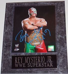 WWE-REY-MYSTERIO-SIGNED-PLAQUE-WITH-COA-AND-PIC-PROOF-3