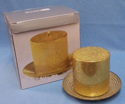 In Box Golden Christmas Candle & Plate Jc Penney