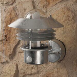 Applique ext rieure lanterne galvanis e lampe murale de for Applique murale exterieure lanterne