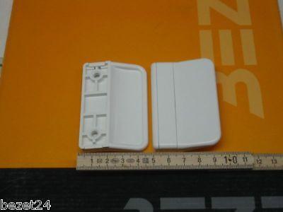 3x Balkontürgriff Terassentürgriff / Ziehgriff weiss aus Kunststoff weiß