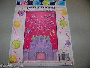 Birthday party decor princess castle door wall mural ebay - Princess party wall decorations ...