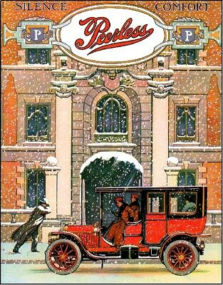 Cleveland, Ohio American Peerless Automobile Car Advertisement Art Poster Print