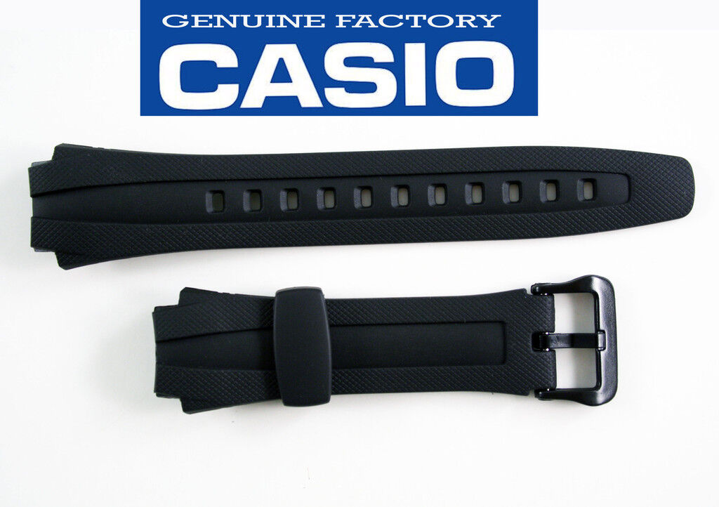 Casio Rubber Watch Band Strap Aq-163w Aq-163wg Aq-160w Black
