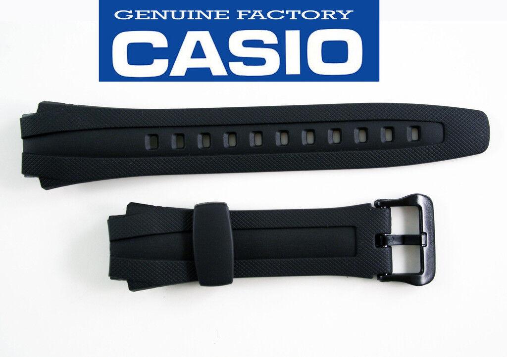 Casio Rubber Watch Band Strap Aq-163w Aq-163wg Aq-160w Black