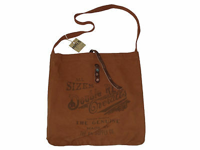 RRL Ralph Lauren Jeans Leather Rust Messenger Tote Bag
