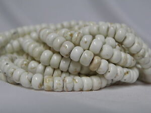 6x4mm Natural White Turquoise Rondelle Beads 15.5