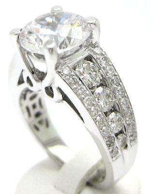 3.11CT ROUND CUT ANTIQUE DIAMOND ENGAGEMENT RING 14K