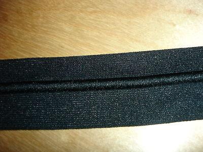 Gummiband 0,60€/m Bündchenware schwarz 3,5 cm breit 10 Meter