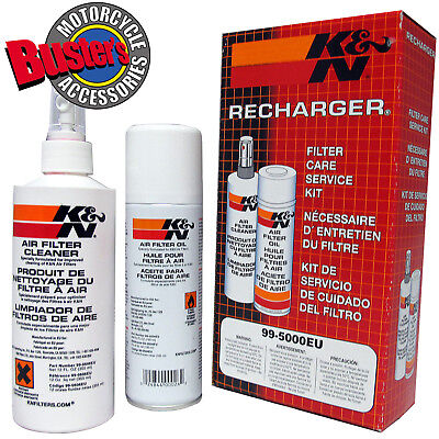 K&N Recharger Air Filter Cleaning Kit - Cleaner and Oil