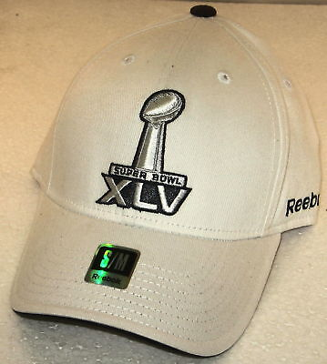 Nfl Super Bowl Xlv White Fitted Hat By Reebok, Size S/m