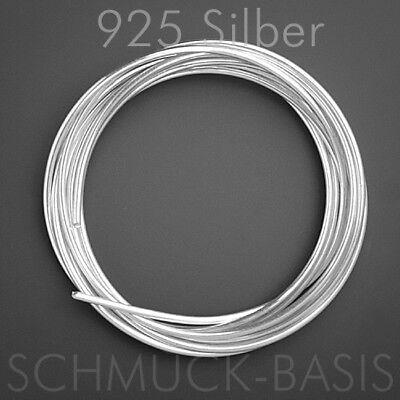 1 m Silberdraht (echt); 925 Silber; Ösendraht 1,0 mm