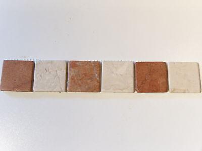Naturstein Bordüre Fliesen Borde Mosaik Rosso Verona