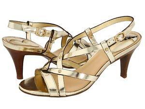 180-Cole-Haan-Air-Vineyard-Patent-Slingback-Sandals-Heels-Shoes-Womens-10-NIB