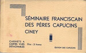 Pre-WWII-Ciney-Belguim-B-W-Postcard-Folder