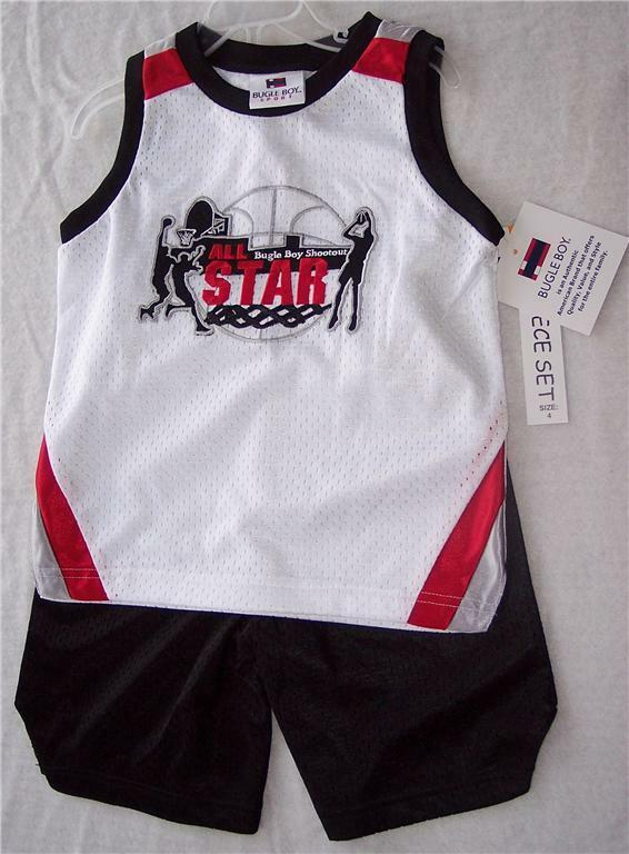 Bugle Boy Ball Sports Tank Top Black Shorts Set 4 All Star Basketball