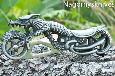 *Fantasy Dragon Cycle,Motorcycle Folding Pocket Knife,Knives Bikers Great Item on Rummage