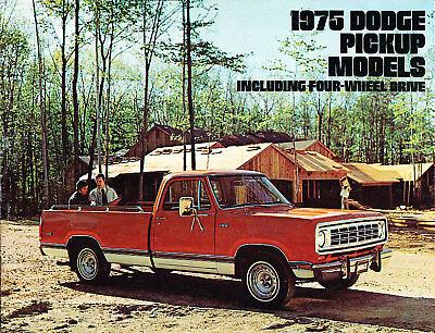 1975 Dodge Ram Truck 16-page Deluxe Sales Brochure D100 D200