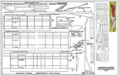 MERCURY GNOME GLIDER PLAN AND PARTS PATTERNS - Gnome Glider