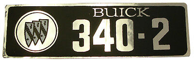 1966 1967 Buick 340-2 Valve Cover Decal