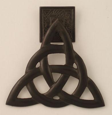 Irish Brass Trinity Knot Door Knocker Antique Bronze