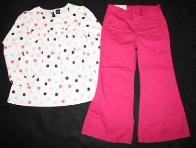 Baby Gap Chelsea Dot Shirt Top Pant 4 4t 5t 5 Yrs