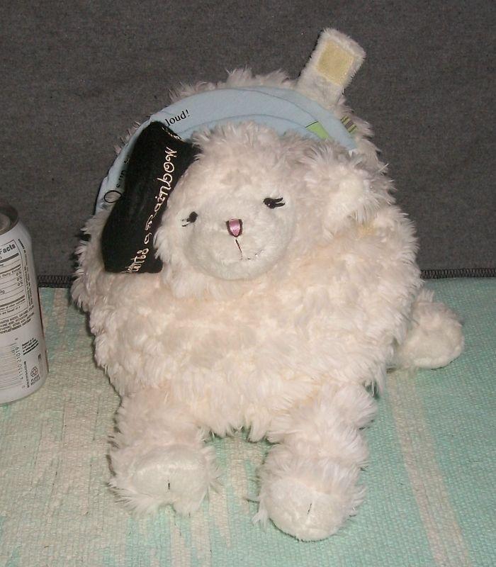 * BABYSTYLE Plush LULU Lamb Sheep PAINTS A RAINBOW Book MUSICAL Crib TWINKLE