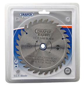 Draper Expert TCT Circular Mitre Saw Blade 150mm 20 / 16 / 13mm  Bore 30 Tooth