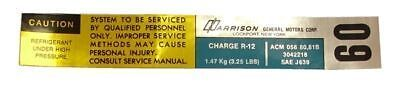 1981 Cadillac Harrison Ac Charge Decal