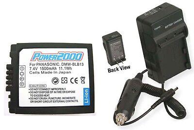 Battery + Charger For Panasonic Dmc-gh1k Dmc-gh1n