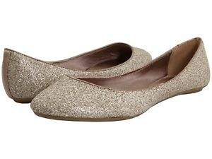 Steve Madden Gold Glitter Shoes Flats