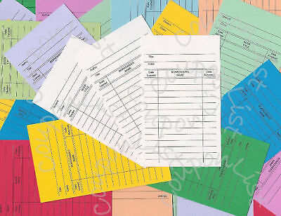 50 Library Loan Checkout Classroom Class Book Cards
