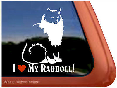 I LOVE MY RAGDOLL! ~  Ragdoll Cat Kitty Kitten Window Decal Sticker