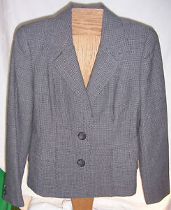 Linda-Allard-Ellen-Tracy-Gray-with-Black-Suit-jacket-Misses-Size-4