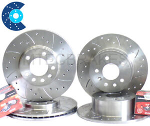 Lexus IS200 Front Rear Drilled Grooved Brake Discs Pads
