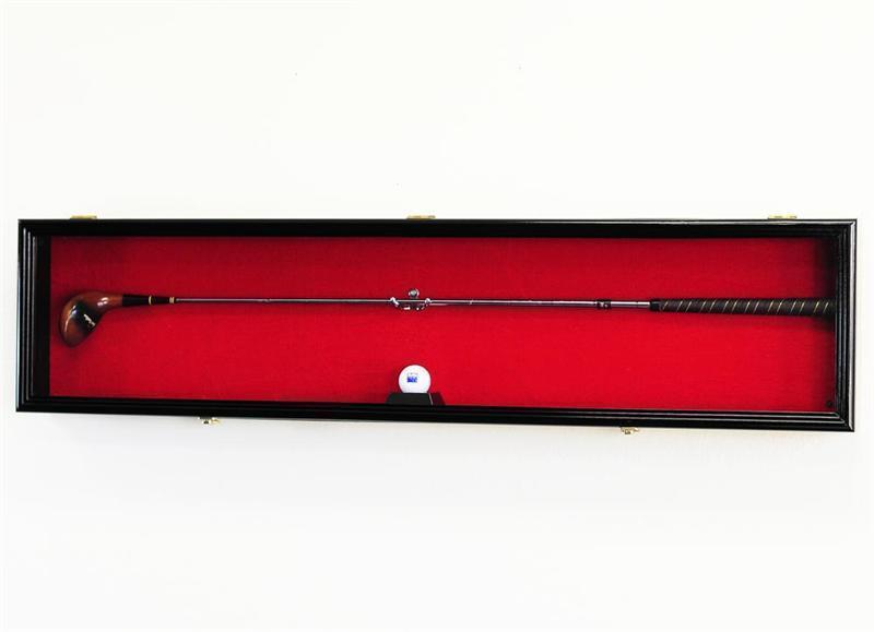 1 Golf Club & Ball Putter Display Case Cabinet Rack 98% Uv