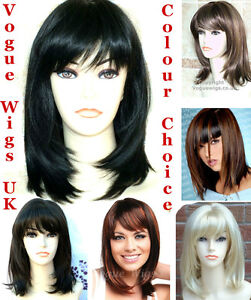Ladies-Short-Medium-Wig-Faceframe-Black-Blonde-Brown-Fashion-Wigs-Vogue-Wigs-UK