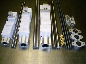 x1 CNC Linear Kit-Rails Bearings Spindle nuts supports SET2 XYZ Axis
