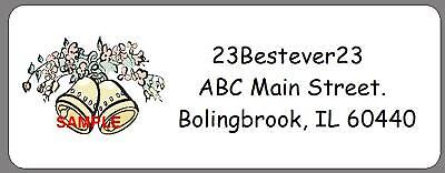 Wedding Bells 120 CUSTOM Return Mailing Address Labels on Rummage