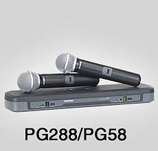 Shure PG288/PG58 Dual Wireless Handheld Vocal Microphone System