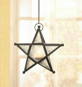 WHOLESALE-LOT-INDOOR-OUTDOOR-CLEAR-GLASS-STAR-HANGING-CANDLE-LANTERNS-WEDDING