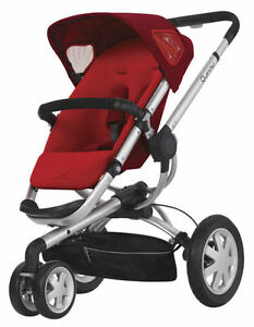Quinny-Buzz-3-Wheel-Baby-Stroller-w-Reversible-seat-Rebel-Red-NEW-2012