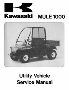 Kawasaki Mule 1000 KAF450 Shop Service Repair Manual 1988 1989 1990 1991 1992 CD
