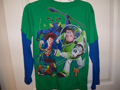 Toy Story Buzz Lightyear Green Blue Long Sleeve Shirt Boys Size 7