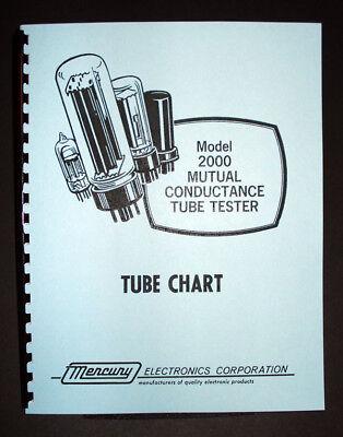 Mercury 2000 Tube Tester Updated Tube Chart