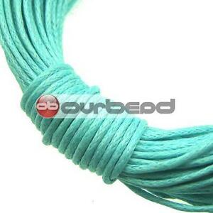 20m Blue Waxed Cotton Cord/String 1mm TC0030